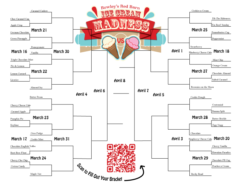 Ice Cream Madness Bracket
